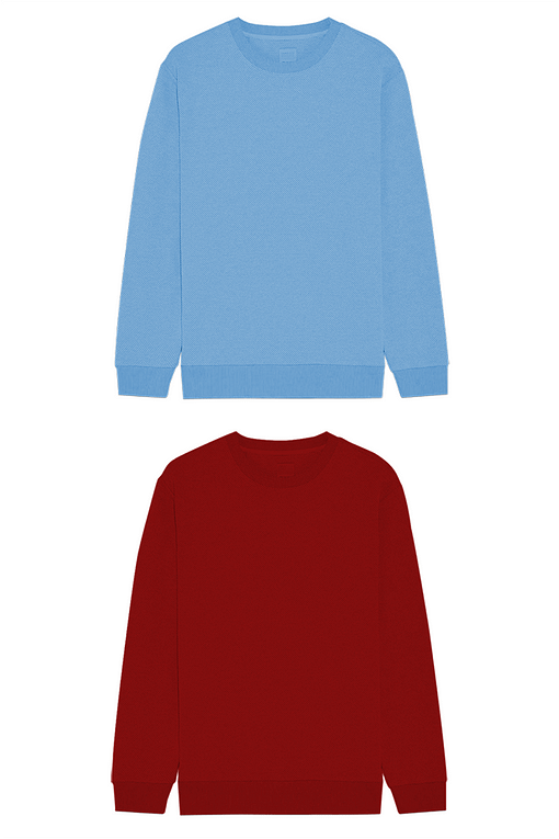 The image displays pack of two Sweatshirt/T-shirt