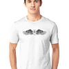 This image Round Neck Half-sleeves White T-Shirt Angel